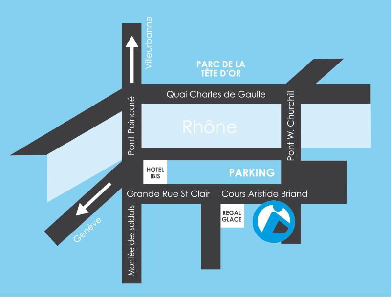 plan d\'accès Planève Vélo